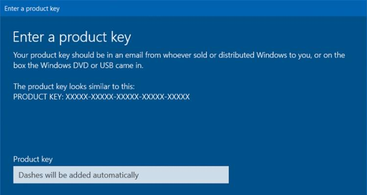 How to activate Windows 10 with Windows 7 activation key