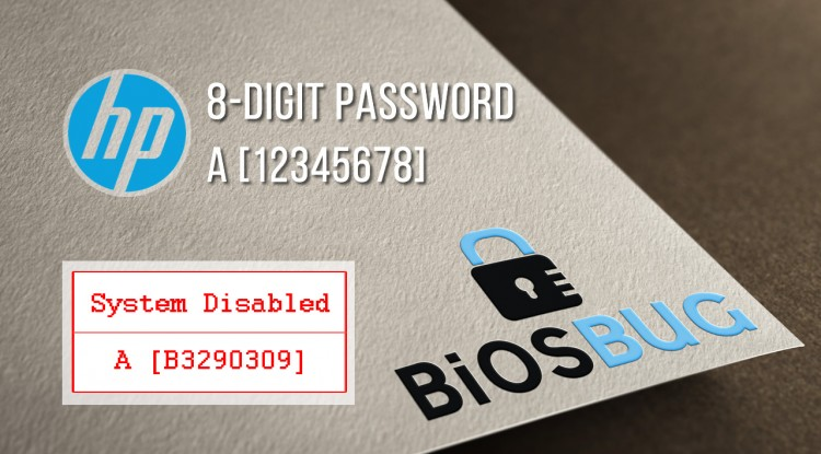 HP System Disabled bios password with A-Code reset