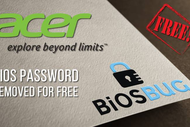 How to remove or reset Acer laptop bios password