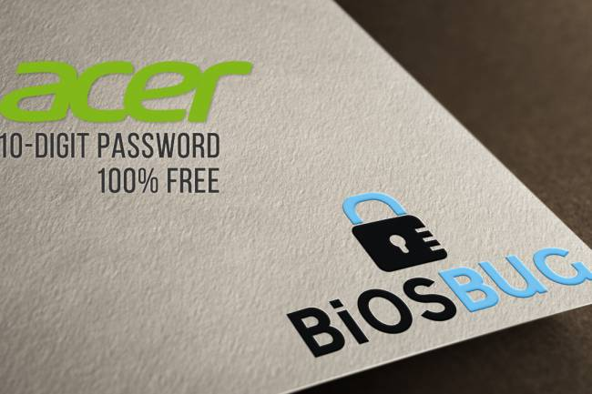 How to remove Acer laptop 10 digit bios password